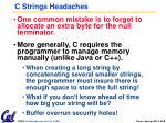 c strings headaches