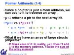 pointer arithmetic 1 4