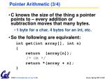 pointer arithmetic 3 4
