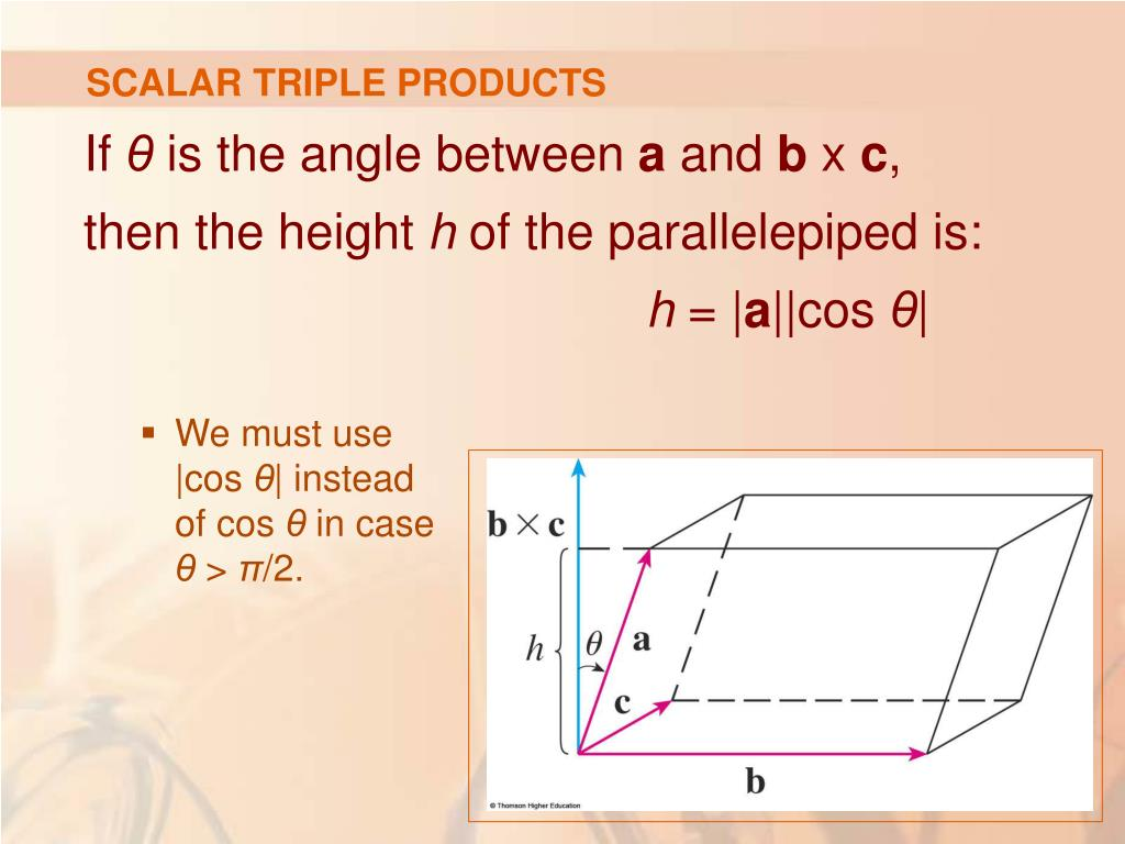 SCALAR TRIPLE PRODUCTS