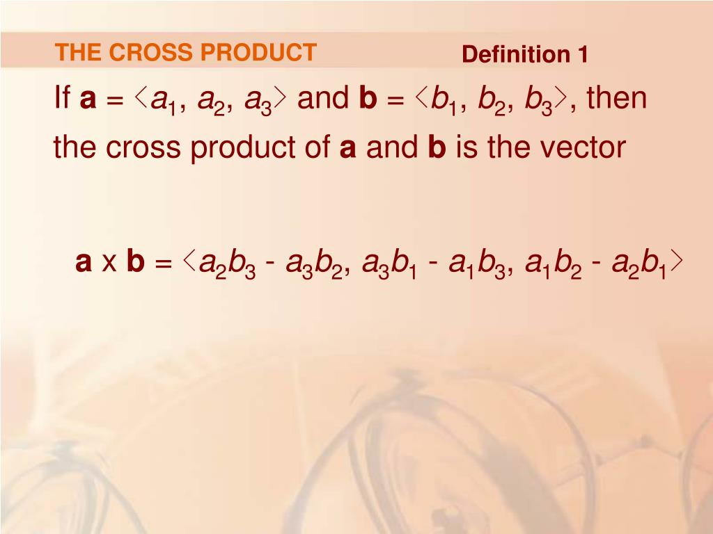 THE CROSS PRODUCT
