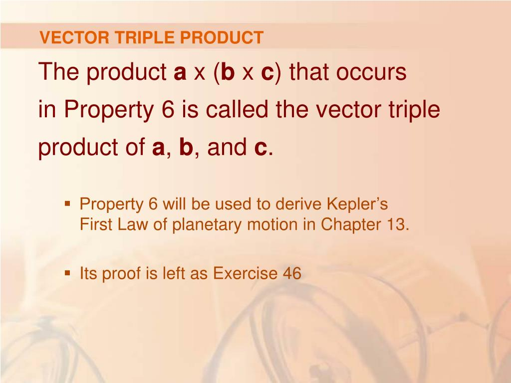 VECTOR TRIPLE PRODUCT