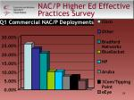nac p higher ed effective practices survey24
