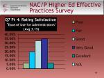 nac p higher ed effective practices survey49