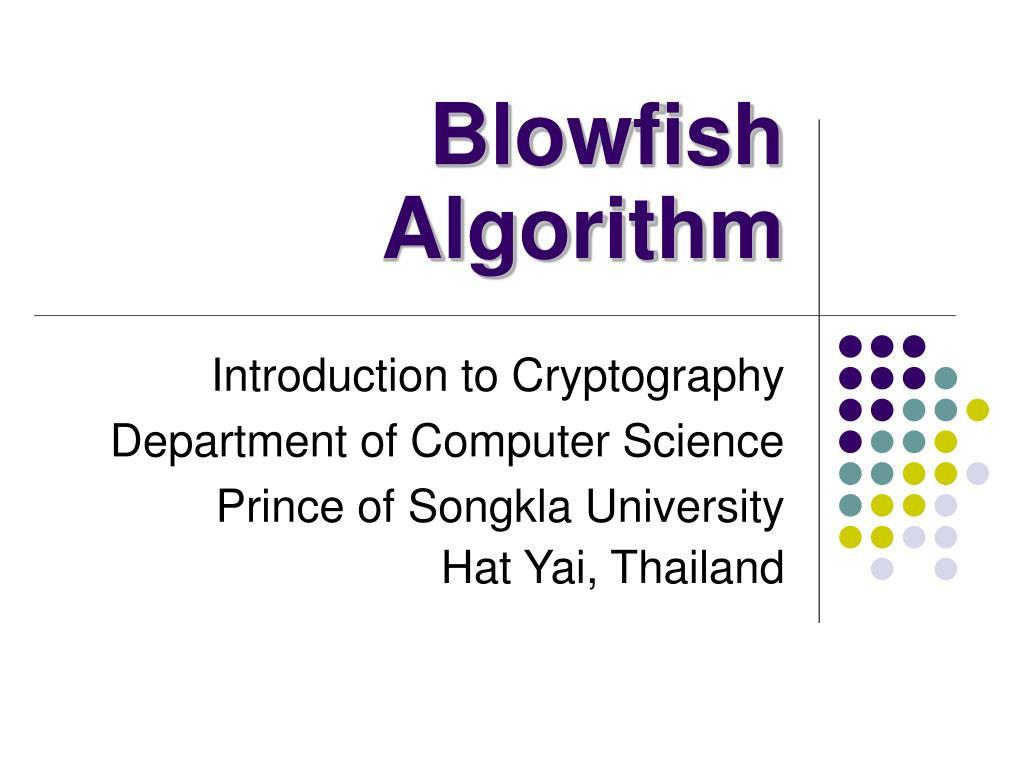 blowfish algorithm l.