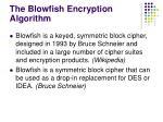 the blowfish encryption algorithm