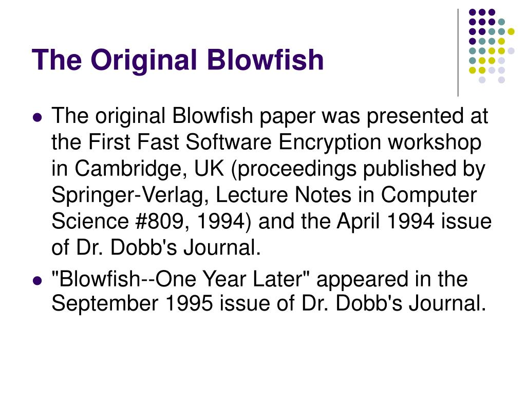 The Original Blowfish