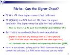 note can the signer cheat