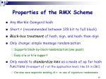 properties of the rmx scheme