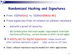 randomized hashing and signatures