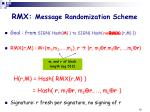 rmx message randomization scheme