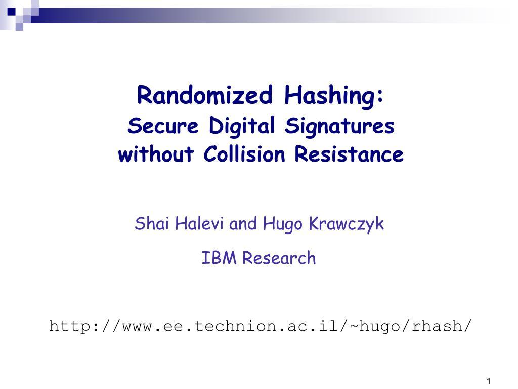 shai halevi and hugo krawczyk ibm research l.