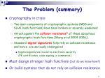 the problem summary