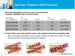use case customer data protection