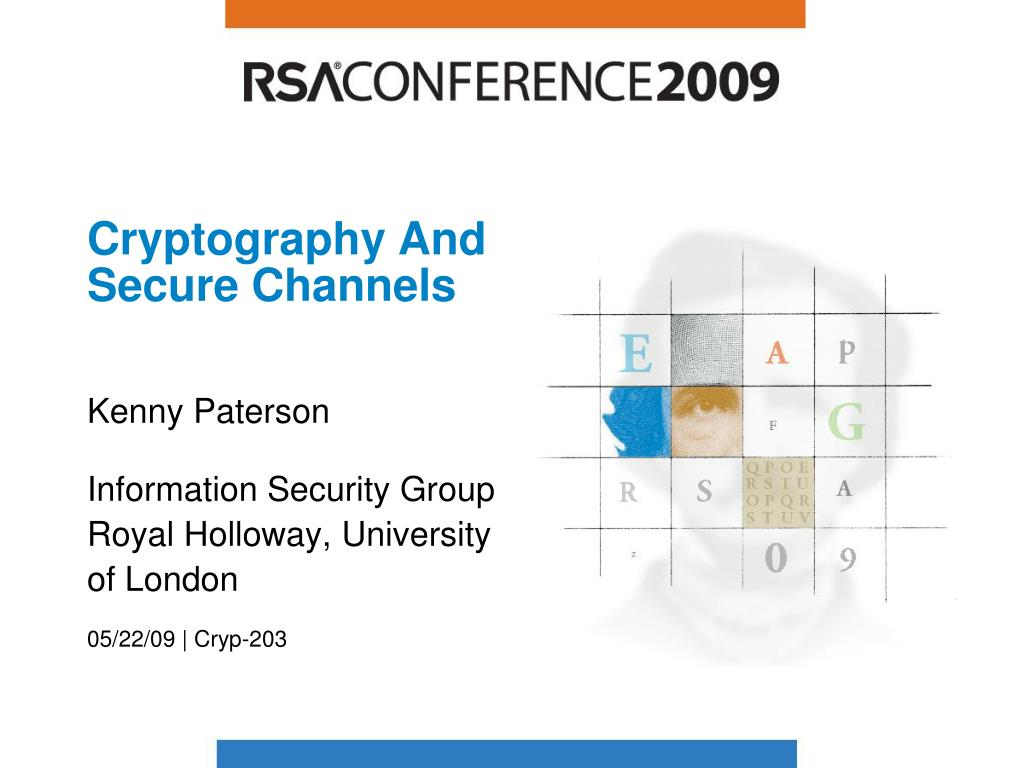 cryptography and secure channels l.