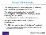 impact of the attacks