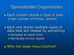 spreadsheet organization