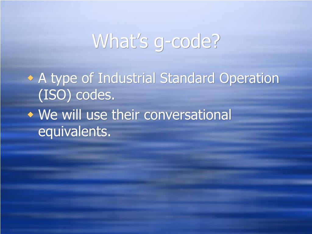 What's g-code?