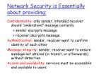 network security is essentially about providing