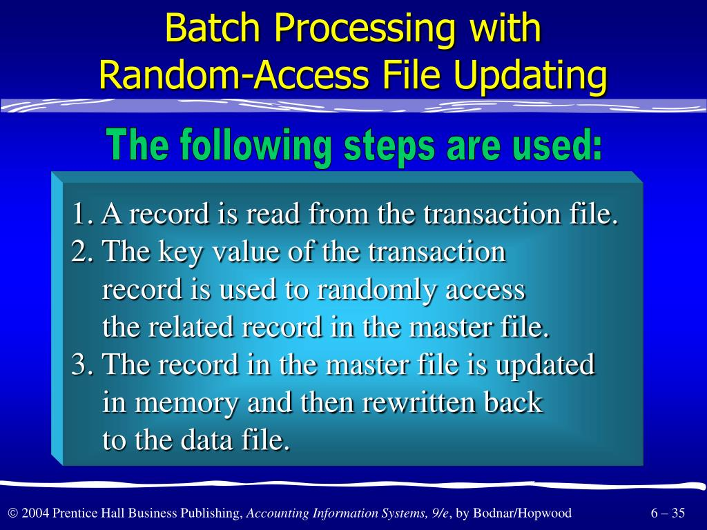 Batch Processing with