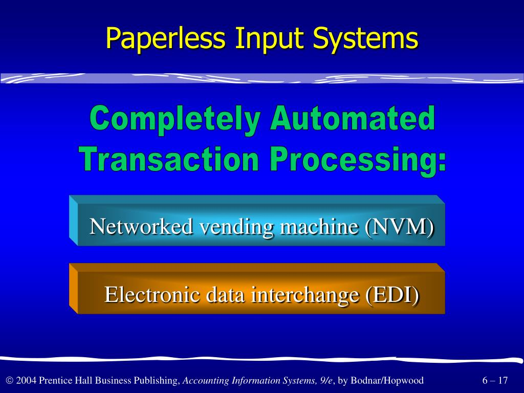Paperless Input Systems