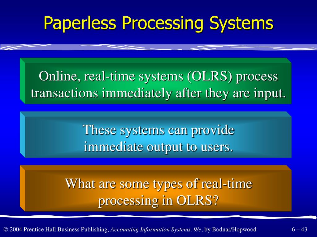 Paperless Processing Systems