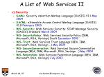 a list of web services ii