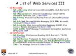 a list of web services iii
