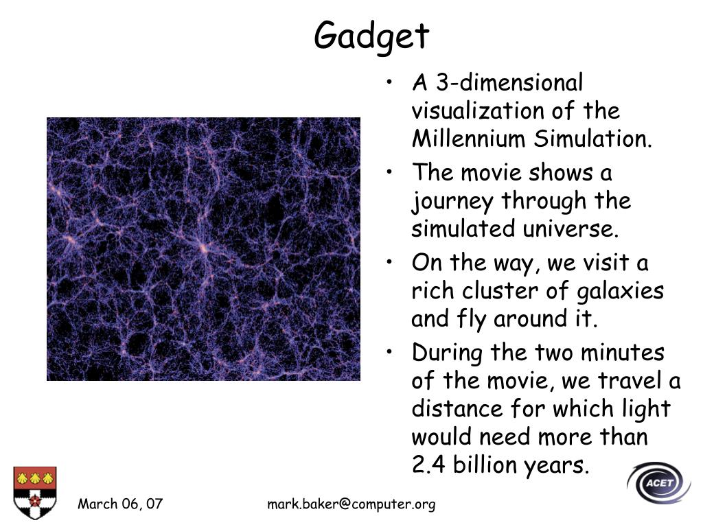 A 3-dimensional visualization of the Millennium Simulation.