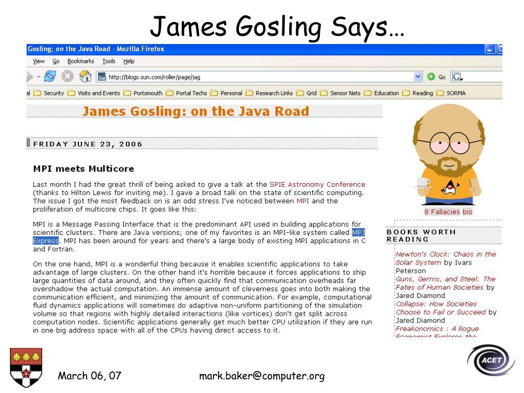 James Gosling Says…
