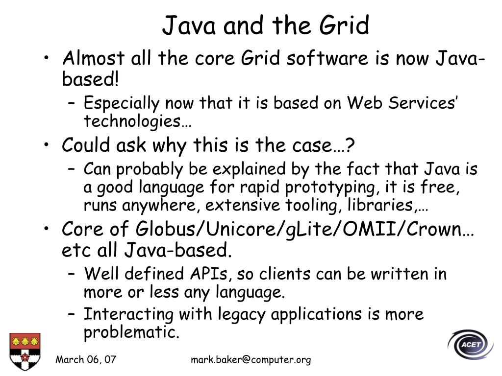 Java and the Grid