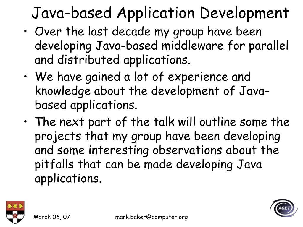 Java-based Application Development