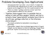 problems developing java applications22