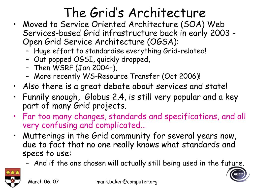 The Grid's Architecture