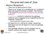the pros and cons of java8