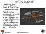 what s web2 0