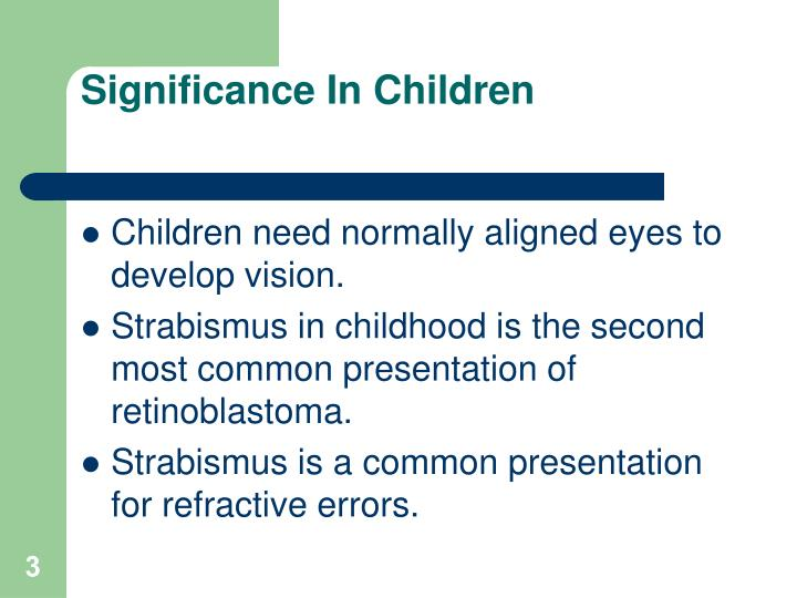 Significance in children