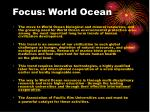 focus world ocean