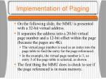 implementation of paging9