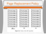 page replacement policy17