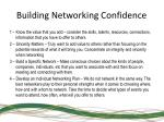 building networking confidence