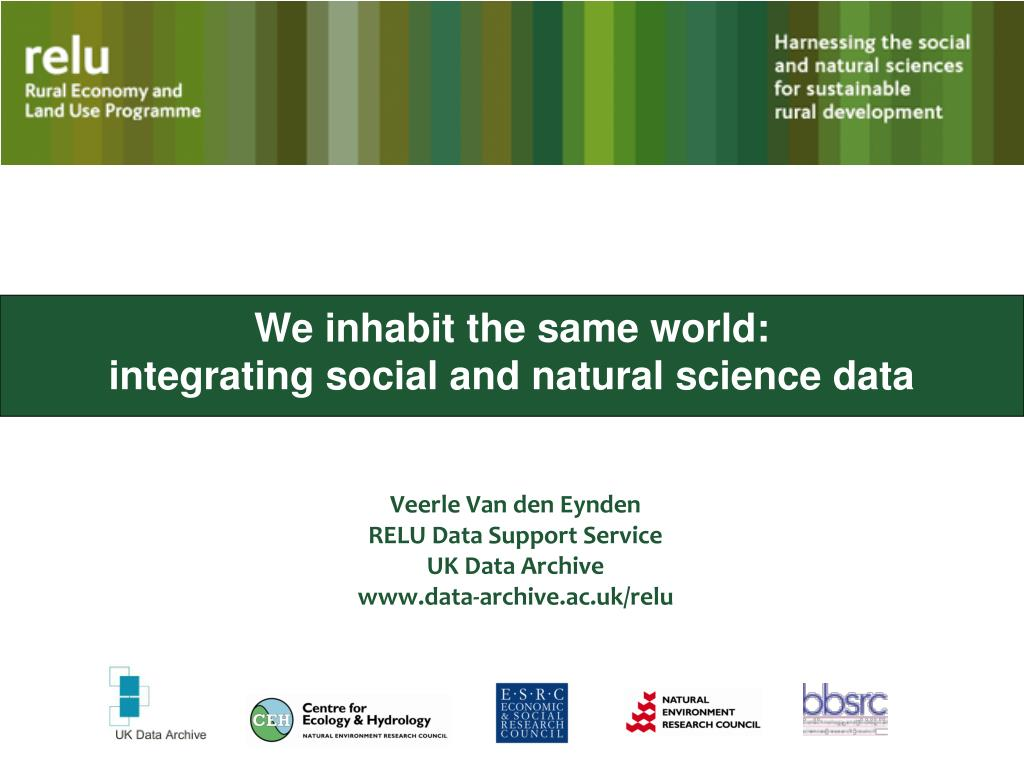 we inhabit the same world integrating social and natural science data l.