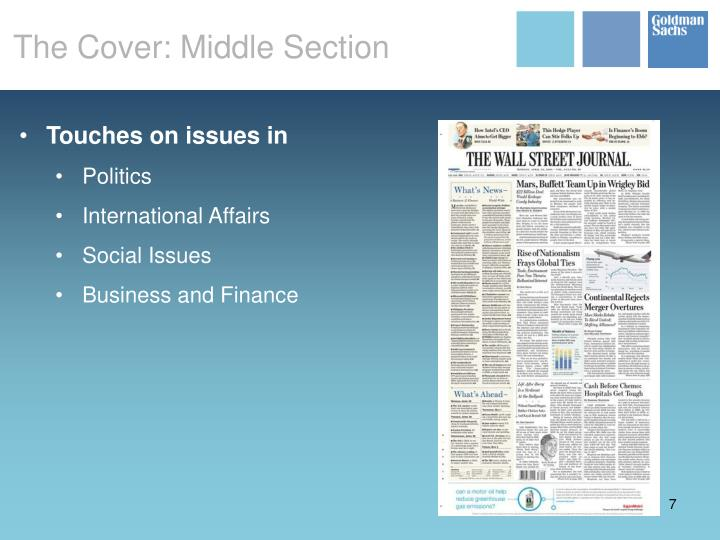 The Cover: Middle Section