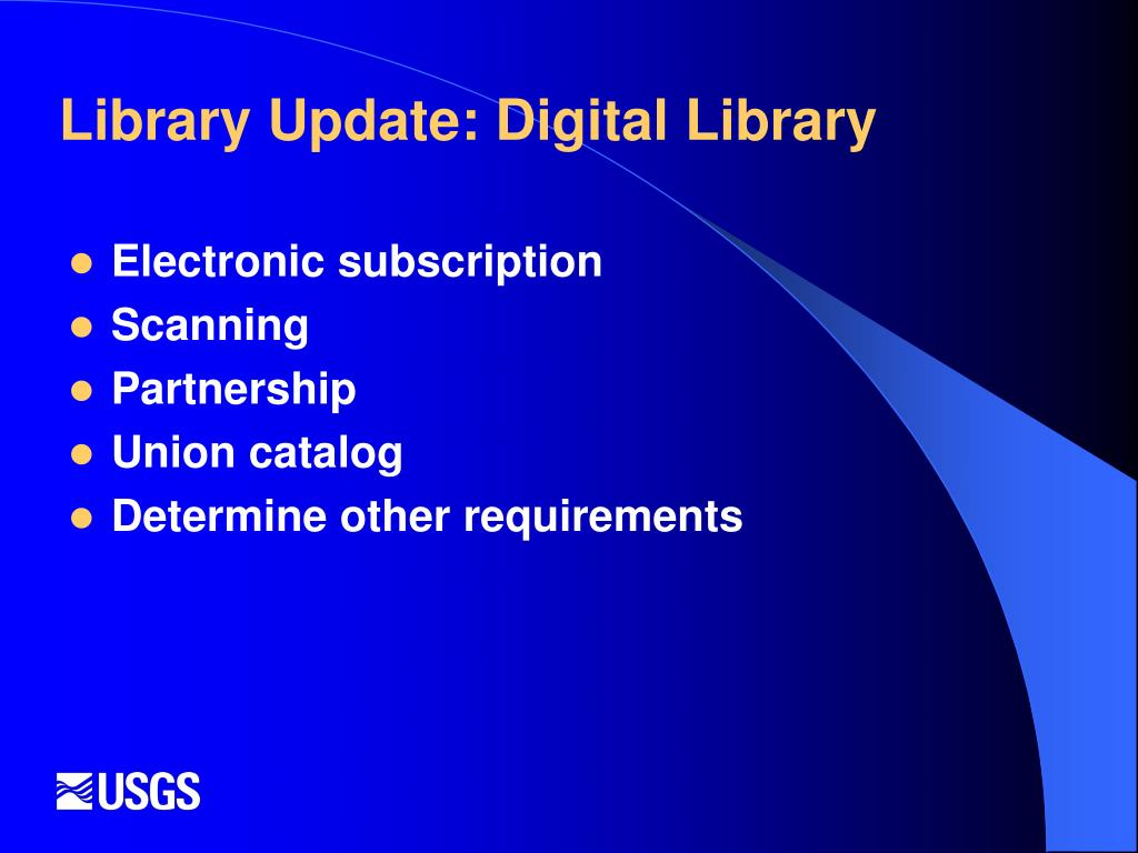 Library Update: Digital Library