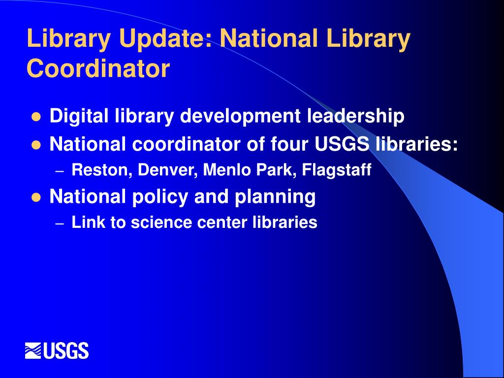 Library Update: National Library Coordinator