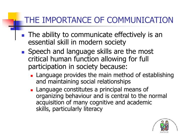 importance of speech communication in society