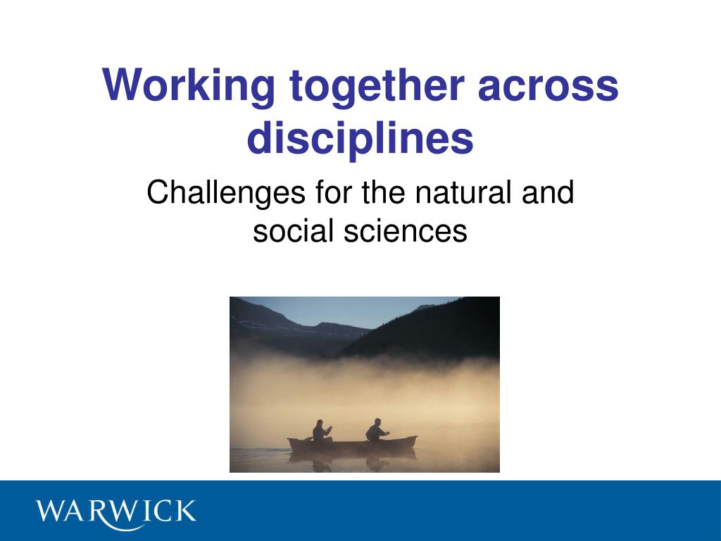 working together across disciplines l.