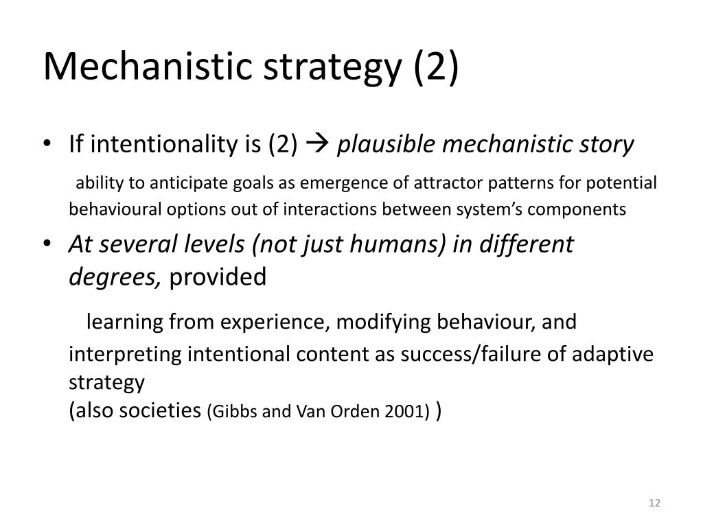 Mechanistic strategy (2)