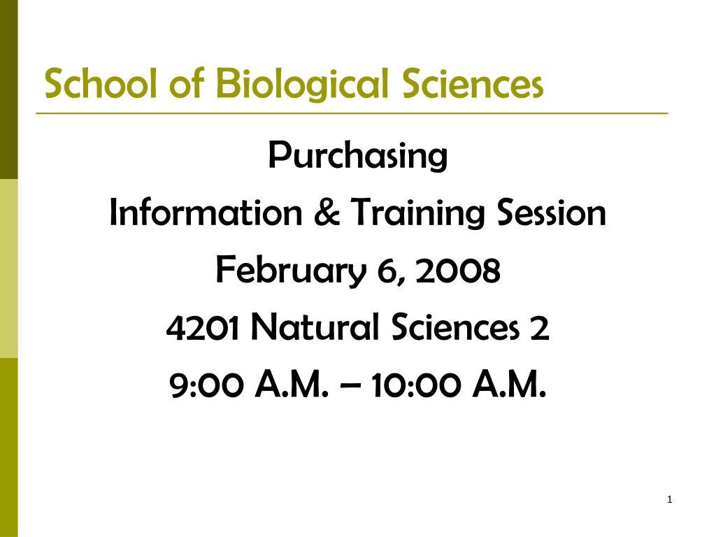 school of biological sciences l.