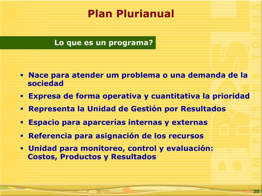 Plan Plurianual